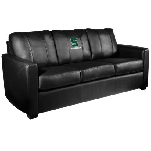 Michigan State Spartans XZipit Silver Sofa with Secondary Logo