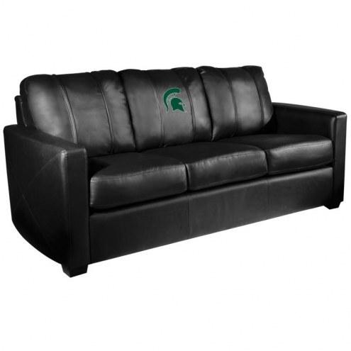 Michigan State Spartans XZipit Silver Sofa