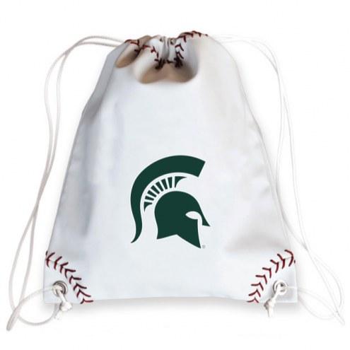 Michigan State Spartans Baseball Drawstring Bag