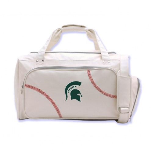 Michigan State Spartans Baseball Duffel Bag