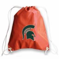 Michigan State Spartans Basketball Drawstring Bag