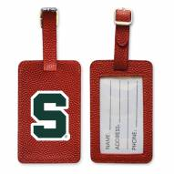 Michigan State Spartans Basketball Luggage Tag