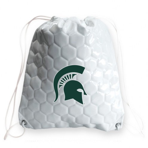 Michigan State Spartans Soccer Drawstring Bag