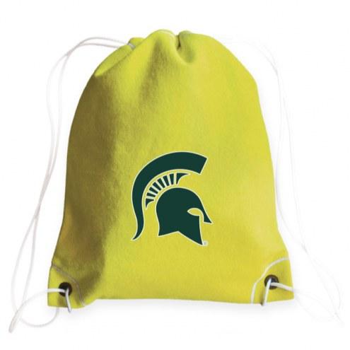 Michigan State Spartans Tennis Drawstring Bag