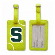 Michigan State Spartans Tennis Luggage Tag