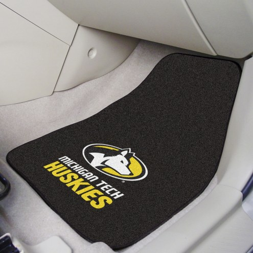 Michigan Tech Huskies 2-Piece Carpet Car Mats