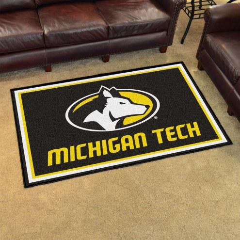 Michigan Tech Huskies 4' x 6' Area Rug