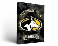 Michigan Tech Huskies Banner Canvas Wall Art