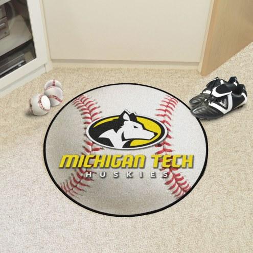 Michigan Tech Huskies Baseball Rug