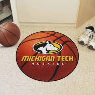 Michigan Tech Huskies Basketball Mat