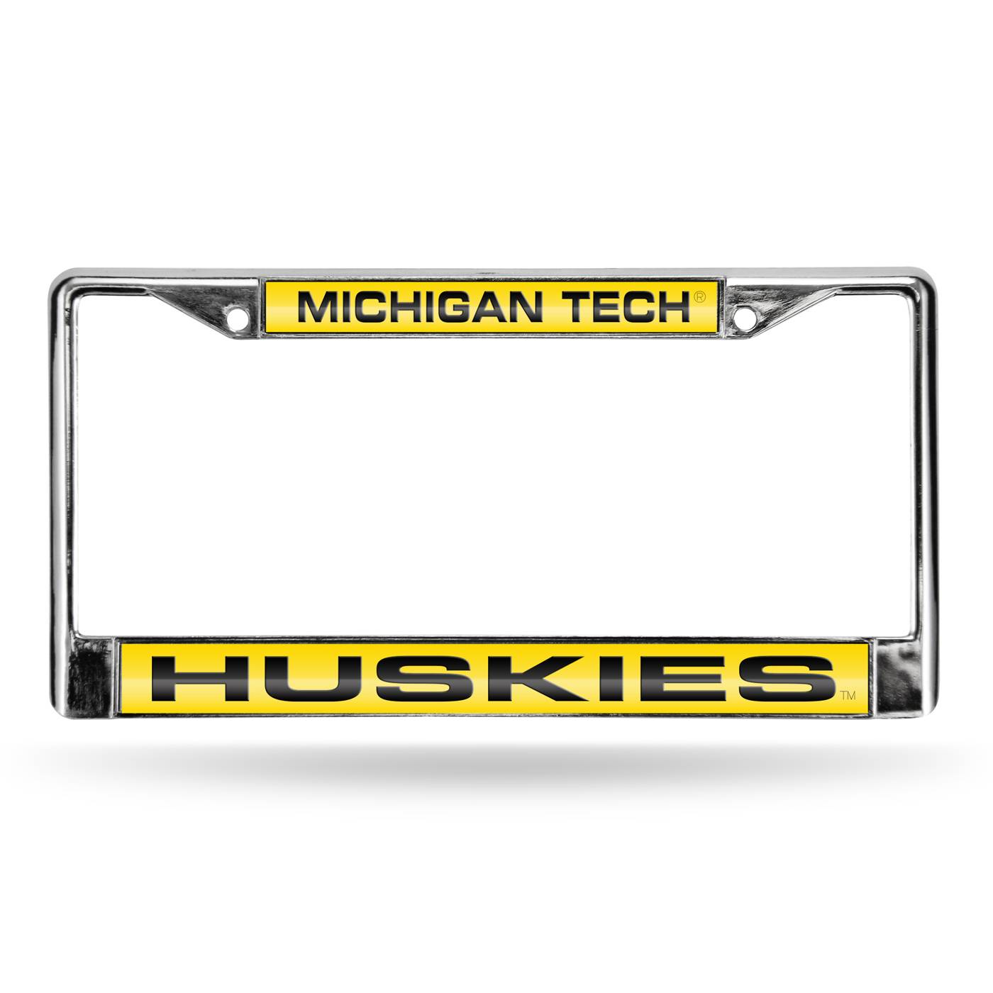 Michigan Tech Huskies College Laser Chrome License Plate Frame