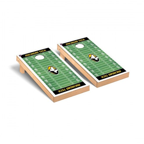 Michigan Tech Huskies Football Field Cornhole Game Set