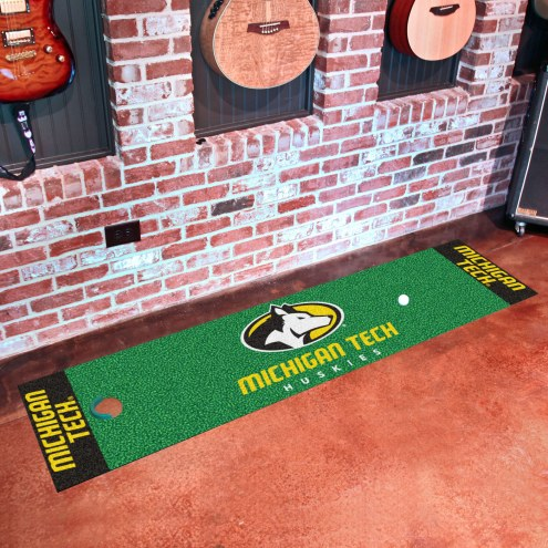 Michigan Tech Huskies Golf Putting Green Mat