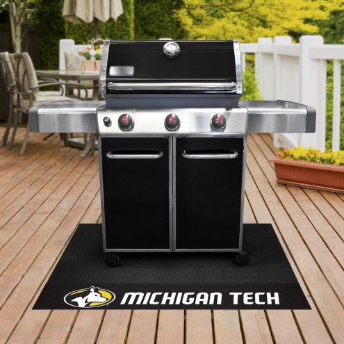 Michigan Tech Huskies Grill Mat