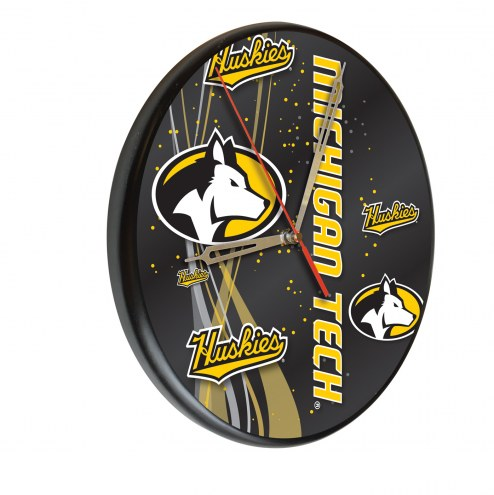 Michigan Tech Huskies Digitally Printed Wood Clock