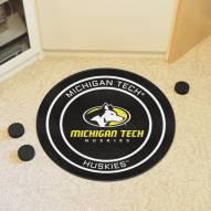 Michigan Tech Huskies Hockey Puck Mat