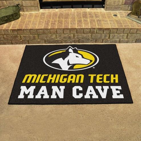 Michigan Tech Huskies Man Cave All-Star Rug