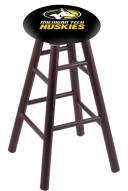 Michigan Tech Huskies Oak Wood Bar Stool