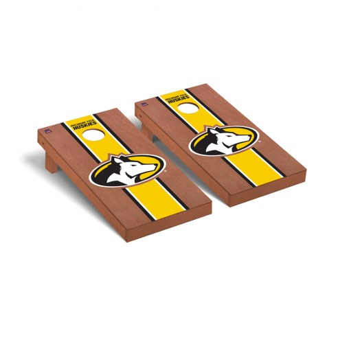 Michigan Tech Huskies Rosewood Stained Cornhole Game Set