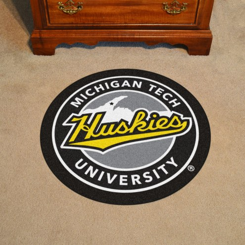 Michigan Tech Huskies Rounded Mat