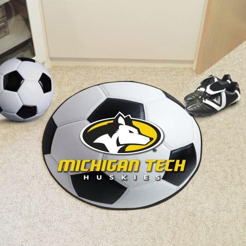 Michigan Tech Huskies Soccer Ball Mat
