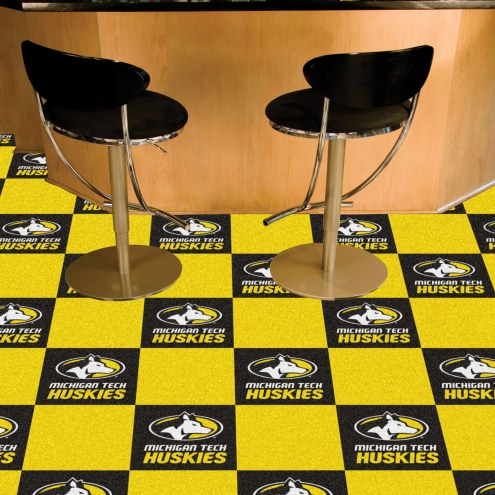 Michigan Tech Huskies Team Carpet Tiles