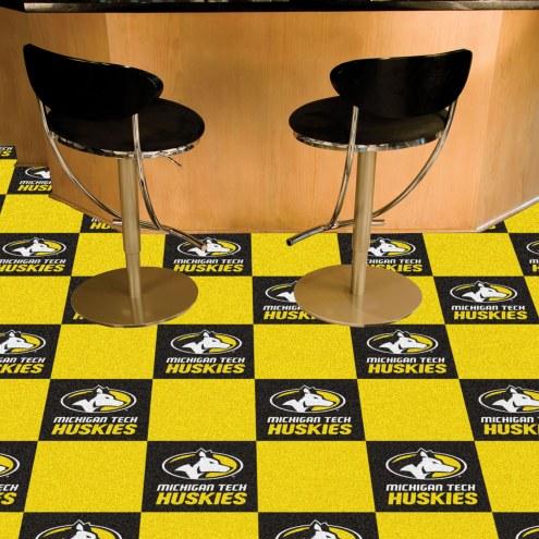 Michigan Tech Huskies Team Carpet Tiles