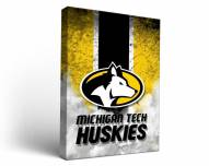 Michigan Tech Huskies Vintage Canvas Wall Art
