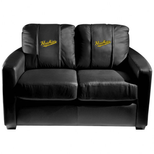 Michigan Tech Huskies XZipit Silver Loveseat with Script Logo