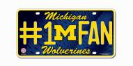 Michigan Wolverines #1 Fan License Plate