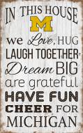 "Michigan Wolverines 11"" x 19"" In This House Sign"