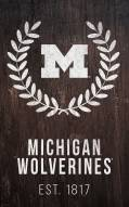 "Michigan Wolverines 11"" x 19"" Laurel Wreath Sign"