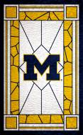 "Michigan Wolverines 11"" x 19"" Stained Glass Sign"