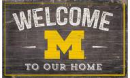 "Michigan Wolverines 11"" x 19"" Welcome to Our Home Sign"