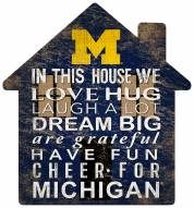 "Michigan Wolverines 12"" House Sign"