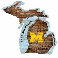 "Michigan Wolverines 12"" Roadmap State Sign"