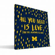 """Michigan Wolverines 12"""" x 12"""" All You Need Canvas Print"""