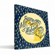 "Michigan Wolverines 12"" x 12"" Born a Fan Canvas Print"