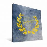 "Michigan Wolverines 12"" x 12"" Favorite Thing Canvas Print"