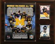 """Michigan Wolverines 12"""" x 15"""" All-Time Greats Photo Plaque"""