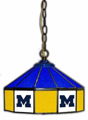 "Michigan Wolverines 14"" Glass Pub Lamp"