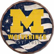 "Michigan Wolverines 16"" Flag Barrel Top"