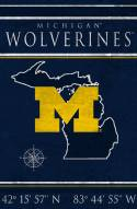 "Michigan Wolverines 17"" x 26"" Coordinates Sign"