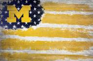 "Michigan Wolverines 17"" x 26"" Flag Sign"