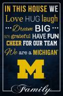 "Michigan Wolverines 17"" x 26"" In This House Sign"