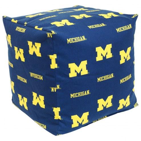 "Michigan Wolverines 18"" x 18"" Cube Cushion"