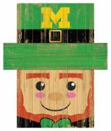 "Michigan Wolverines 19"" x 16"" Leprechaun Head"