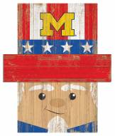 "Michigan Wolverines 19"" x 16"" Patriotic Head"