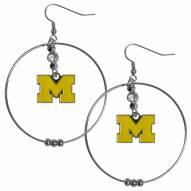 """Michigan Wolverines 2"""" Hoop Earrings"""