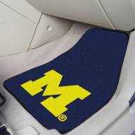 Michigan Wolverines 2-Piece Carpet Car Mats